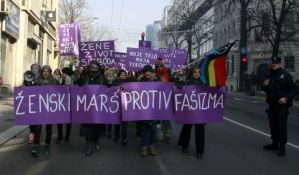 Ženski marš protiv fašizma održan u Beogradu