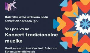 Koncert tradicionalne muzike učenika Baletske škole