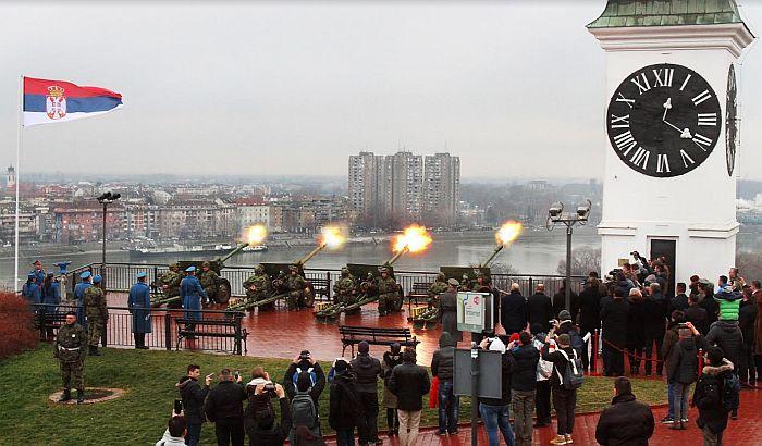FOTO, VIDEO: Plotuni sa Tvrđave povodom Dana državnosti