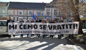FOTO: Ligaši protestovali uz parolu