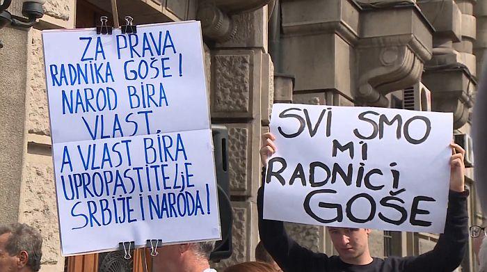 Ministarstvo: Protest radnika Goše bio ispolitizovan