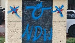 Još jedan spomenik u Zagrebu išaran ustaškim simbolima