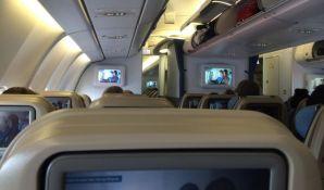 Pas uginuo nakon što ga je stjuardesa stavila u prostor za ručni prtljag