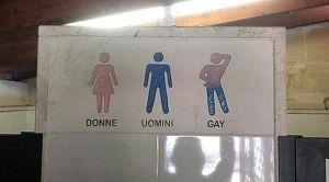 FOTO: Restoran na vrata toaleta stavio znak za gej osobe