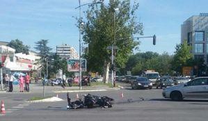FOTO: Motociklisti povređeni u tri udesa u Novom Sadu