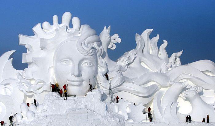 VIDEO: Počeo festival ledenih skulptura