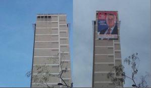 Plakat Šešelja na Radničkom visio sedam meseci bez dozvole, nadležni ćutali