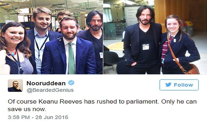 Kijanu Rivs došao u britanski parlament da