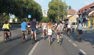 FOTO: Biciklisti iskazali nezadovoljstvo zbog zanemarenih staza