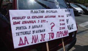 Protest prosvetara: Zbog platnih razreda prosveti manje plate