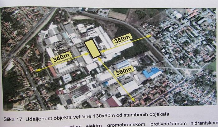 Pančevo: U Staklari planirano skladište za 10.000 tona đubriva, 22.000 ljudi u zoni potencijalne ugroženosti