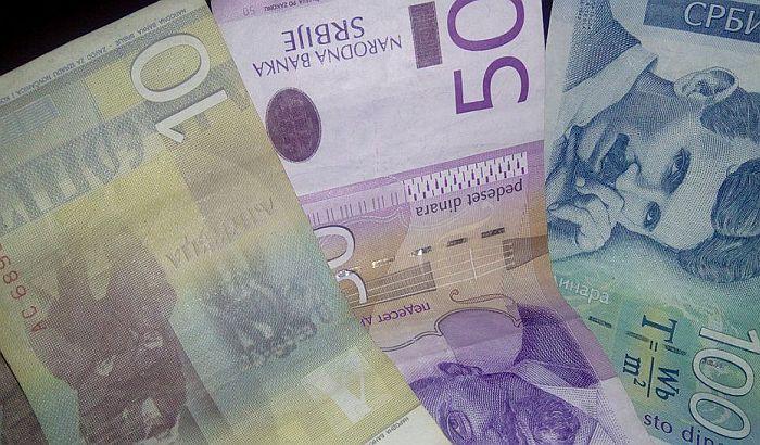 Evro u ponedeljak 124 dinara