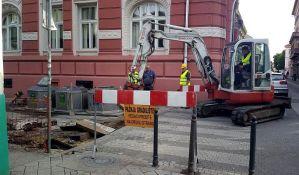 Kontejneri na uglu Miletićeve i Grčkoškolske van upotrebe dok traju radovi