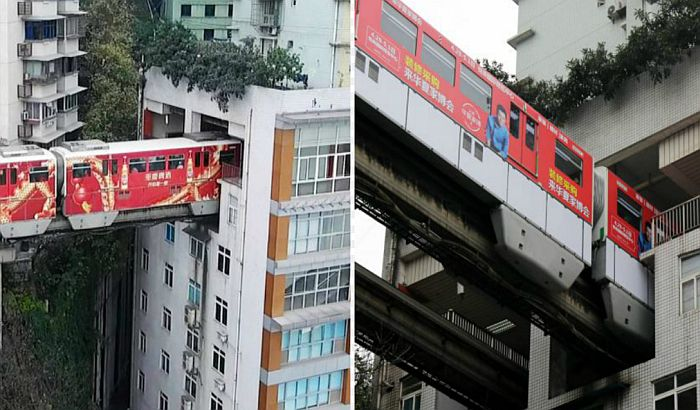 VIDEO: Voz u Kini prolazi kroz zgradu