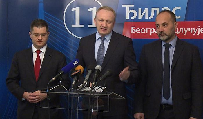 Đilas, Janković i Jeremić danas o saradnji