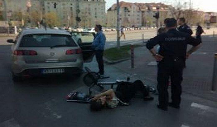Udes kod Master centra, oborena biciklistkinja, trudnica prebačena u Betaniju