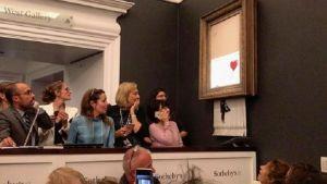 Nakon što je prodata za milion funti, Benksijeva slika se samouništila