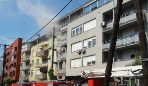 FOTO: Požar u Doža Đerđa, zapalio se televizor