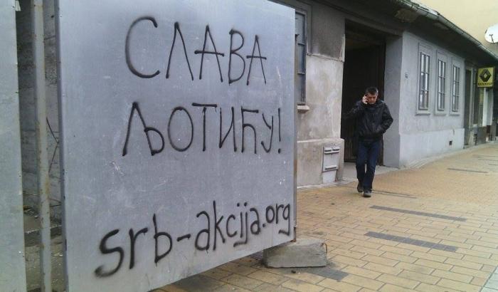 FOTO: Neonacistički grafiti u centru Novog Sada