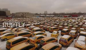 VIDEO: Groblje žutih taksija u Moskvi