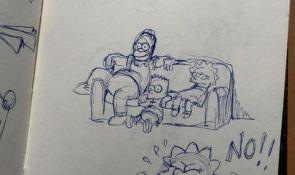 FOTO: Animator Simpsonovih pokazao skice likova i detalja iz 1995. godine