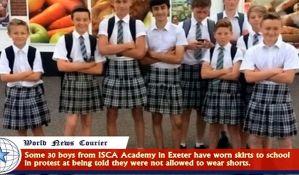 VIDEO: Dečaci došli u školu u suknjama iz protesta