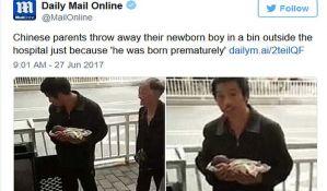 Bacili bebu jer je prevremeno rođena