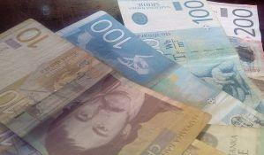 Evro u ponedeljak 123,38 dinara