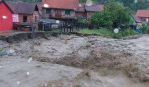 Poplava u Krupnju, potopljene kuće