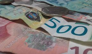 Dinar u ponedeljak slabi prema evru