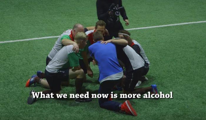 VIDEO: Najluđa utakmica ikad - svi igrači morali da budu pijani