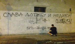 FOTO: Grafiti u slavu Ljotića i Nedića u Novom Sadu, uništen i mural tolerancije
