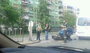 FOTO: Motociklista povređen kod Sajma
