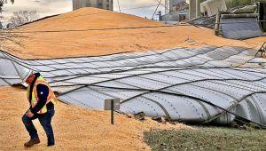 Srušio se silos, 10.000 tona kukuruza zatrpalo put u Ohaju