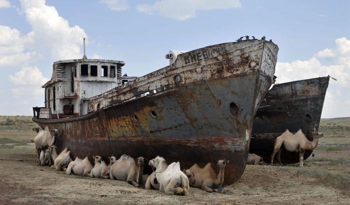 VIDEO: Groblje brodova na mestu nekada jednog od najvećih jezera