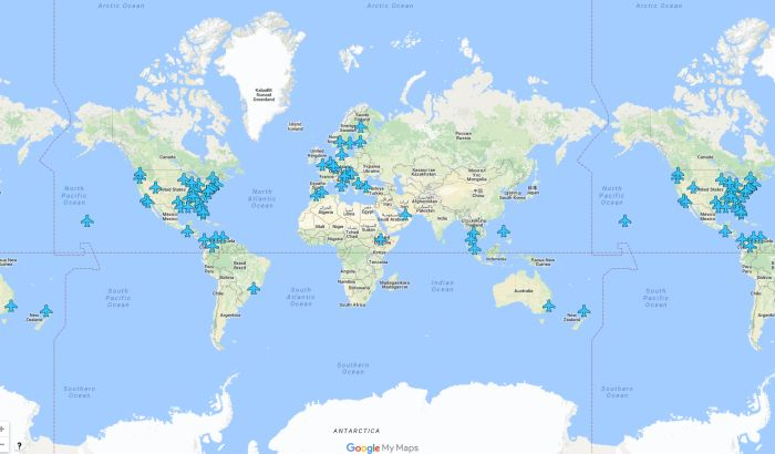 Šifre za wireless internet na svim aerodromima na svetu