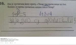 FOTO: Učiteljica ispravila tačan odgovor đaka prvaka