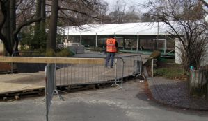 FOTO: Veliki deo Dunavskog parka već ograđen