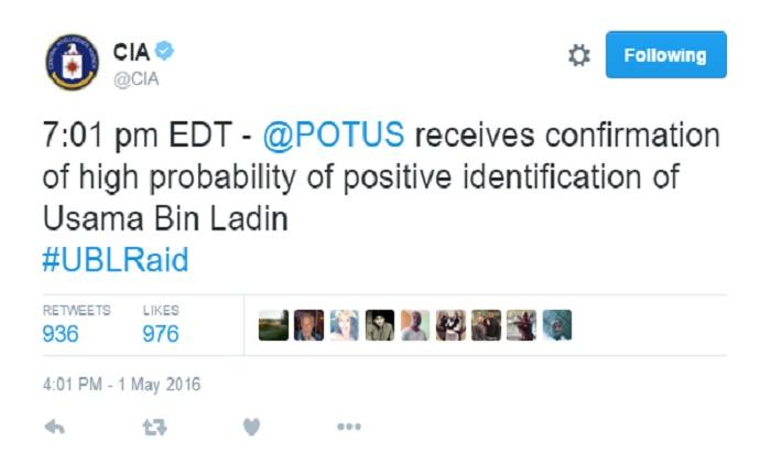 CIA iznervirala tviteraše tvitovima o Bin Ladenu