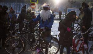 FOTO: 500 Moskovljana vozilo bicikle na -27