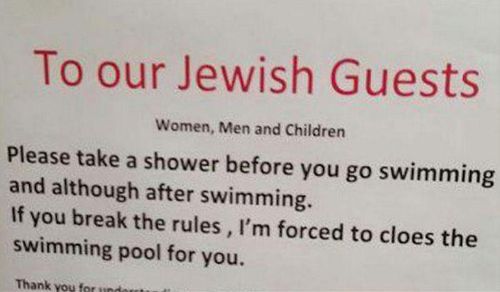 Hotel nalaže jevrejskim gostima tuširanje pre ulaska u bazen