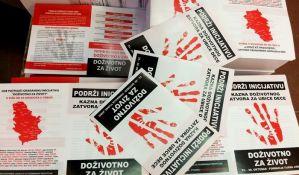 Od sutra prikupljanje potpisa za doživotni zatvor za ubice dece