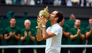 Federer lako do nove titule na Vimbldonu