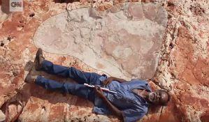 VIDEO: Pronađen najveći otisak stopala dinosaurusa