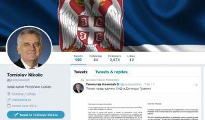 Vučić na Tviteru i dalje premijer, Nikolić predsednik