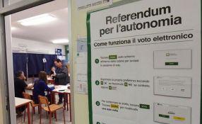 Veneto i Lombardija ogromnom većinom glasale za autonomiju