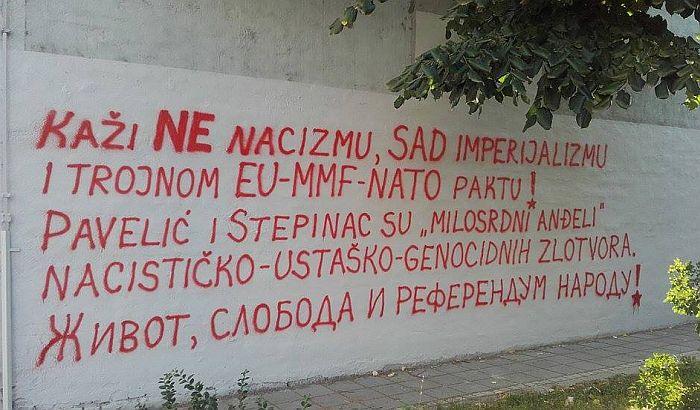 Grafit protiv EU, MMF i NATO treći put na Novosadskom pozorištu