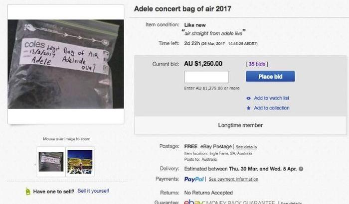 Na internetu prodavao vazduh koji je udisala pevačica Adel