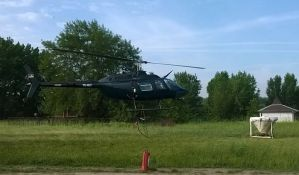 Ciklonizacija prska komarce iz helikoptera
