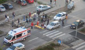 FOTO: Devojčicu udario automobil na pešačkom prelazu na Limanu